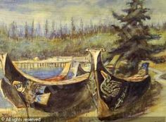 View War Canoes, Alert Bay - By Emily Carr; Watercolour on paper; Access more artwork lots and estimated & realized auction prices on MutualArt. Canadian Painters, Canadian Artists, Emily Carr Paintings, Group Of Seven Paintings, Tom Thomson, Smart Art, Impressionist Paintings, Native American Art, Art Auction