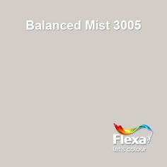 Voor trap en kast: Flexa Couleur Locale kleur Balanced Mist 3005 Grey Paint Colors, Wall Colors, House Colors, Green Color Schemes, Living Room Colors, Shades Of White, Minimalist Bedroom, Concrete Floors, Home Bedroom