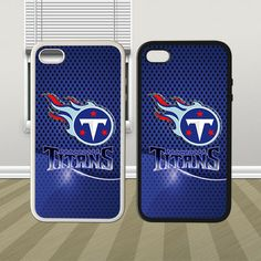 NFL Tennessee Titans Starcraft Metal Hybrid iPhone 4 4s 5 5s 5c Case Cover Hard