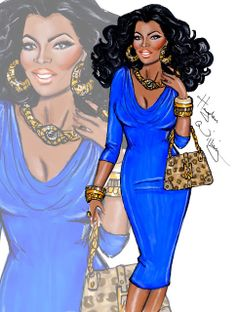 #Hayden Williams Fashion Illustrations #'Oprah X' by Hayden Williams