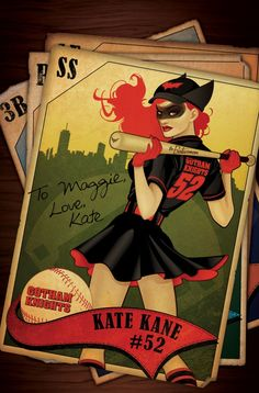 Batwoman — DC Comics bombshell variant covers designed by artist Ant Lucia for the June 2014 issues of 20 titles. Description from pinterest.com. I searched for this on bing.com/images