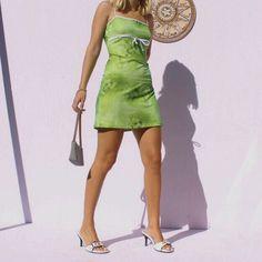 Topshop green leaf dress Depop