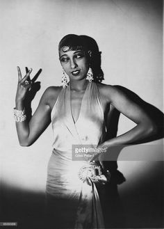 Photo of Josephine BAKER; Posed studio portrait of Josephine Baker