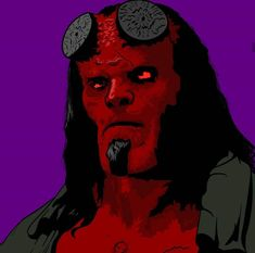 A hellboy illustration made in adobe illustrator