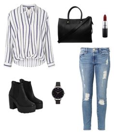 """Untitled #11"" by ana-rafaela-1 on Polyvore featuring Frame Denim, Topshop, River Island, Olivia Burton, Paul & Joe and MAC Cosmetics"