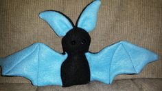 Little bat by LadyXielnann.deviantart.com on @DeviantArt  Made with a sewing pattern from www.beezeeart.com