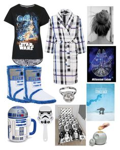 """""""I'm a Star Wars nerd"""" by armamak ❤ liked on Polyvore featuring Topshop, R2 and ThinkGeek"""