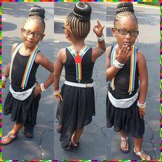 Outstanding Little Girls Braided Mohawk With Beads Children Natural Hair Short Hairstyles For Black Women Fulllsitofus