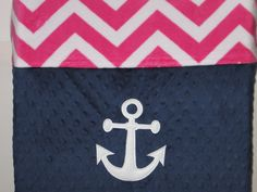 Changing Pad Cover, Anchor, Nautical, Sailing, Minky, Minky Chevron, Baby Shower Gift, Baby Nursery, Nursery Decor, 20+ Colors,  Add A Name