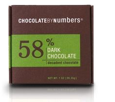 Chocolate: Chocolate by Numbers - 58% Decadent Dark Chocolate