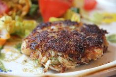 Pan Fried Crab Cakes - Seasoned crab mixed with freshly toasted bread and pan fried in a bit of butter and oil. Serve alone as-is, or with spicy horseradish mustard, spicy mustard sauce, jalapeno cream sauce, remoulade sauce, or comeback sauce.