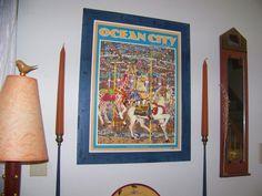 Framed Ocean City poster, $135.00