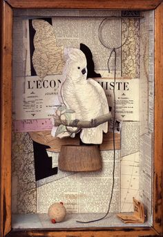 A Parrot For Juan Gris (1953-54) Mixed media box construction