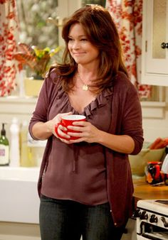 Hot in Cleveland - Valerie Bertinelli  Melanie contemplates her bright future in Cleveland over a cuppa joe.
