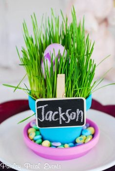 cute easter place card holders