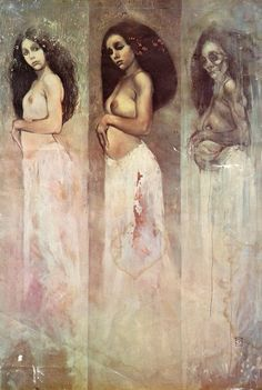 Three phases of woman. Maiden, Mother, Crone -  by Jeffery Catherine Jones