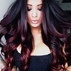 Image result for ends of hair color for dark hair