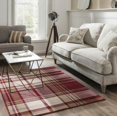 Buy Maestro Tartan Black Rug at Carpetright, the UK's leading rug retailer. Buy from our new range of high quality, great value rugs, runners and doormats today. Decor, Red Rugs, Furniture, Next Living Room, Black Rug, Rugs, Main Bedroom, Scottish Decor, Contemporary Rug