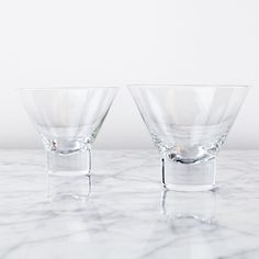 A modern and sturdier version of the classic, these glasses are the ideal vessel for your favorite martini, regardless of whether you shake or stir. They're also great for Manhattans. Never worry abou