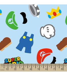 Nintendo® Super Mario Brothers™ Clothes Icons Flannel Fabric | Jo-Ann $9.99 ($7.49) /yd