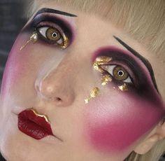 Creative 40's style makeup ❤️