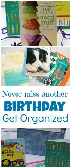 Do you have trouble remembering to send birthday cards in time? Get organized with Hallmark cards starting at 47 cents! #SendSmiles #ad