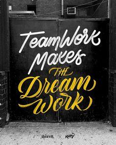 Teamwork makes the Dream work Chalkboard Wall Bedroom, Chalk Wall, Office Prints, Office Wall Art, Mural Art, Wall Murals, Wall Art Designs, Wall Design, Chalk Art Quotes