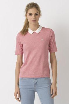 L!VE Half Sleeve Jersey Striped Polo