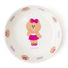 Line Friends Official Goods Choco Melamine Dinner dessert Plate Dish S Size  #LineFriends