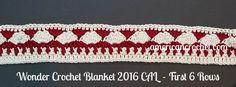 Wonder Blanket crochet-a-long first 6 rows, free crochet pattern by American Crochet