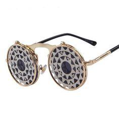 86cb2b7d91b Steampunk Gothic Vintage Clam Shell Sunglasses (16 Styles)