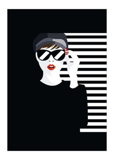 Black and white Art Woman Prints Wall Decor Woman Art Print Pop Art Drawing, Art Drawings, Negative Space Art, Art Blanc, Tableau Pop Art, Images D'art, Art Deco Illustration, Art Moderne, Diy Canvas Art