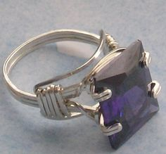 wirewrapped handcrafted prong amethyst by uniquejazzyjewelry, $89.80