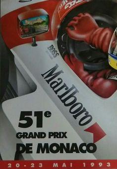 Affiche 51eme grand prix de Monaco 1993
