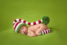 Newborn Baby Stocking Hat - Photo Props, Photography Props, Boys, Christmas, Girls,  Elf Hat, Striped Hat, (Available in Different Color) on Etsy, £27.07