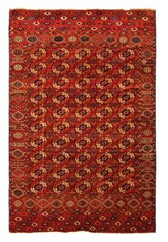 Tekke main carpet Turkmenistan, mid 19th century 9ft. 4in. x 6ft. 11in.
