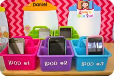 What a great idea ~ Use old iPhones as iPods in the classroom!  I think I'll send a newsletter out and see if I get any donations. (Love the free ideas at this blog post.)