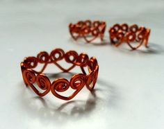 Picture of Swirly Heart Wrapped Wire Ring