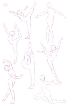Gymnastics drawing references