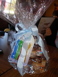 Baby food jar cake idea for baby shower