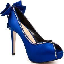 Blue shoes to go with your blue eye make up..