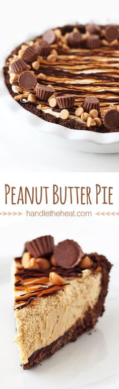 Love this peanut butter pie recipe.