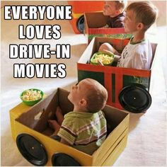 Drive-in Movies // fun inside and outside, great for kids to create during the day and enjoy by night #party #movienight