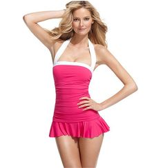 Cute Swimsuit -- I love how much it covers and is still fun.  $119 by Ralph Lauren