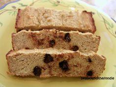 paleo banana almond butter bread (w raisins instead of chocolate chips)