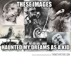 Still can't believe these were in a kid's book… Scary Stories