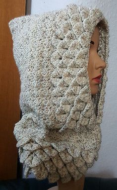 #Woman winter handmade crochet #acrylic neck warmer hood #infinity scarf,  View more on the LINK: http://www.zeppy.io/product/gb/2/181951022939/
