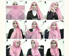 Hijab tutorial square