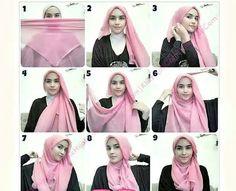 Hijab tutorial square
