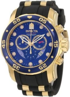 Relógio Invicta Men's 6983 Pro Diver Collection Chronograph Blue Dial Black Polyurethane Watch #Relogio #Invicta